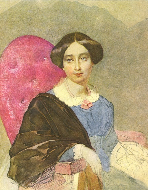Портрет неизвестной в голубом.(1846). Автор: Т.Шевченко.